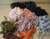88Y Lot of Vintage Lace and Trim- 13 different styles and colors