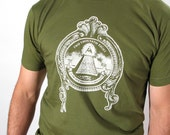 2008 Is The New 1984 Screenprint on Olive Green Shirt Small
