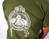 2008 Is The New 1984 Screen Print on Olive Green Shirt -EXTRA-LARGE-