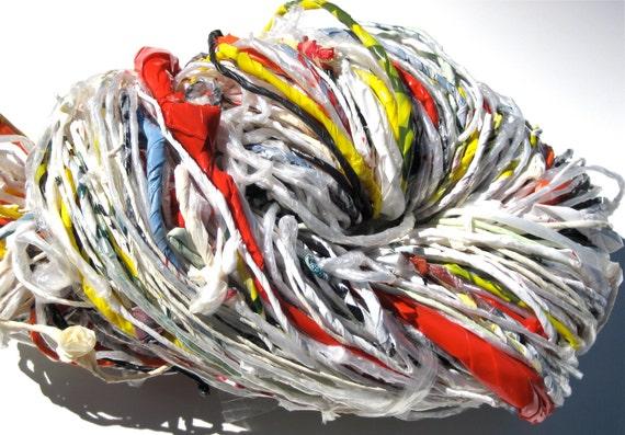 Plarn -- Handspun Plastic Yarn -- Upcycle Yarn