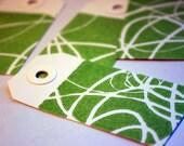 8 Linocut tags