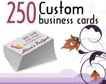 250 Custom Printed Glossy or Matte, One Sided or Two Sided Business Cards - Free Shipping