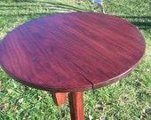 Round Top Antique Oak Pub Table
