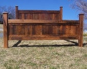 Free Shipping! Shenandoah Sunset Bed Frame Made From Reclaimed Oak