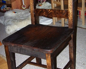 Reclaimed Antique Oak Rustic Dining Chairs