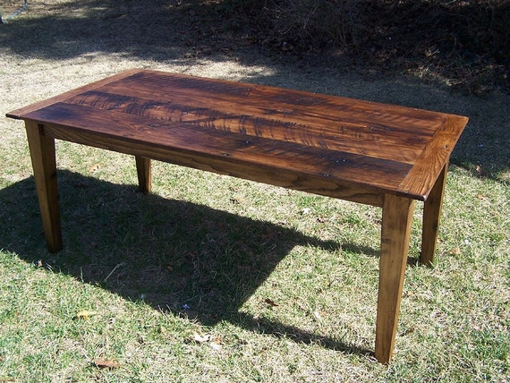 Wormy Chestnut Farm Table with Extension