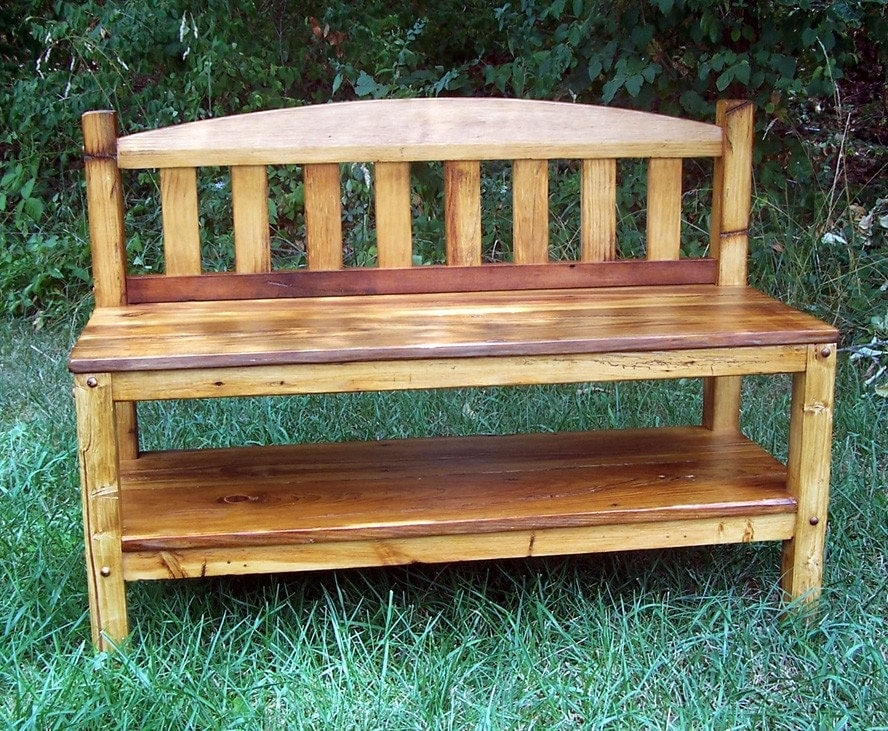 Items Similar To Rustic Reclaimed Wood Entryway Hall Bench On Etsy