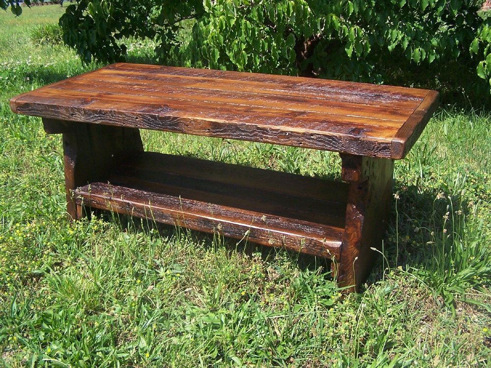 Heart Pine Rustic Coffee Table