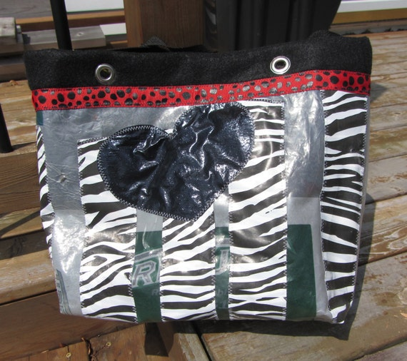UpCycled Plastic Animal Print Tote