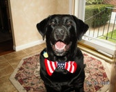Patriotic bowtie for dogs for Veterans Day or the Fourth of July with free shipping in the US