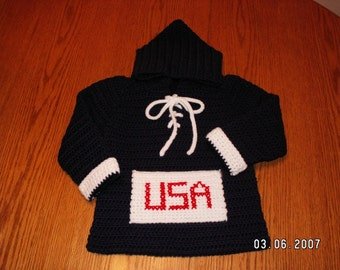 Team Colors Sweater - Hand-crocheted for babies and children up to size 6