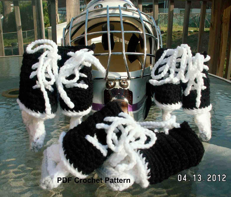 Instant Download Ice Hockey Skates Crochet Pattern