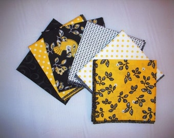 Napkins Set of  6 Eco Friendy Lunch or Tea Napkins Hand Made in the USA Reusable Ready to Ship