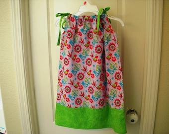 GIrls Pillowcase Dress Size 6 Ready to ship Hand Made