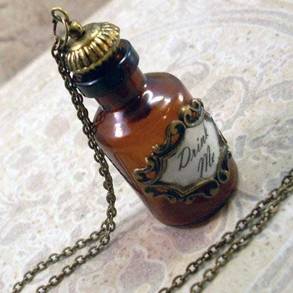 Alice Drink Me Bottle Pendant