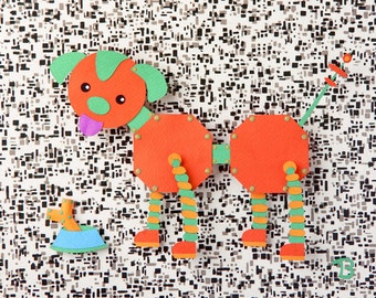 Otis - 8.5 x 11 art print of an original paper sculpture by Tiffany Budzisz