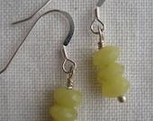 little yellow jade stack earrings