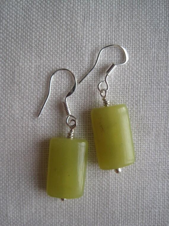 yellow jade dangles
