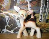 vintage small ceramic deer