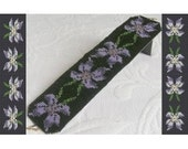 2 Loom or Odd Drop Peyote Bead Patterns for Violets Cuff Bracelet - 2 Variations For The Price Of 1