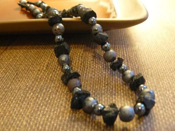 Black & Grey Man's Neckwear, Jewelry for Men, Gifts for Him