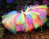 Girls Birthday Tutu, Tropical Tutu, Birthday Tutu, Cupcake Tutu, Toddler Tutu,  Adjustable Tutu by Groovy Gurlz Cute as a Cupcake Tutu