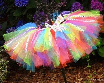 Birthday Tutu - Toddler Tutu -  Baby Girl Tutu - Cupcake Tutu - Dance Recital - Adjustable Tutu -  Childs Dress Up  Play -  Groovy Gurlz