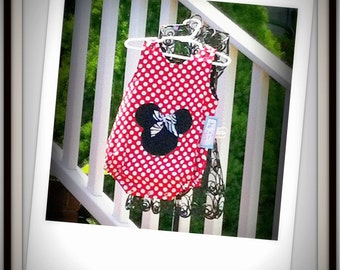 Disney Romper, Minnie Mouse Romper, Spring Romper, Disney Vacation Clothing, Groovy Gurlz, Girls Minnie Mouse Romper