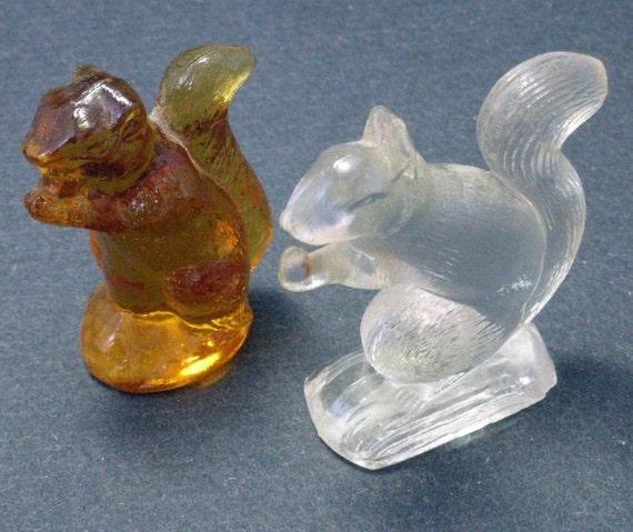 Glass Squirrels Blown in Mold Wheaton