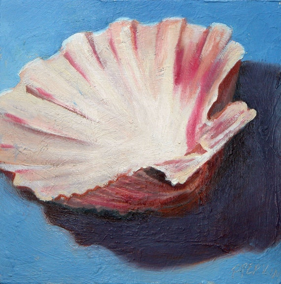 Scallop Shell original oil painting