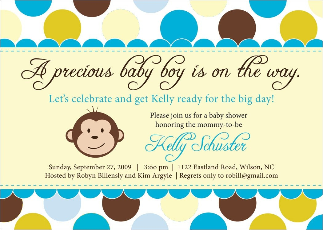 Monkey Themed Baby Shower Invitations correctly perfect ideas for your invitation layout