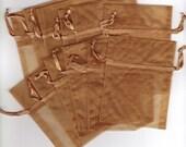 Gold Organza Favor Bags, 3 x 4