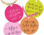 Favor tags, place cards - round favor tags