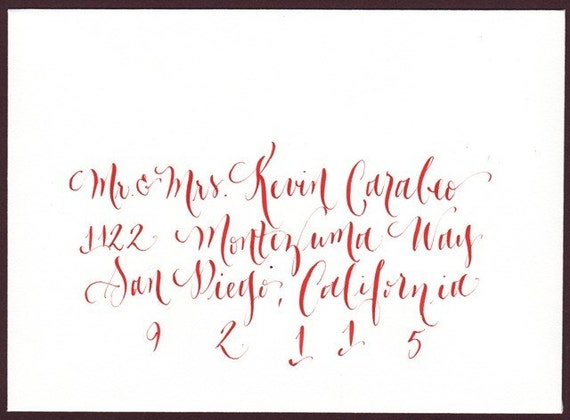 Wedding Envelope Calligraphy - hand addressing for weddings or events