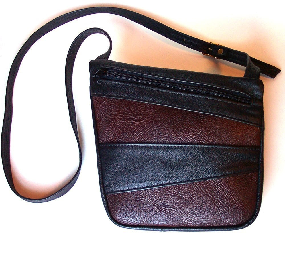 615afda451cd Mk Black And Brown Two Tone Leather Handbag | Stanford Center for ...