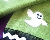 Halloween Ghost Green Tea Towels (2)