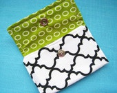 Fabric Wallet/Credit Card Holder (Black and White Pattern)