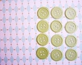 Leaf Green Pearl Buttons --for Decorating, Favors, Scrapbooking, Card making, altered art, collage, weddings, parties