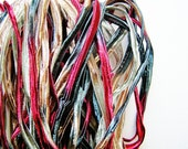 Garnet gold and Pewter pearl herringbone shimmer ribbon woven trim - elegant and silky embellishment craft wrap wedding supply - 5 yards