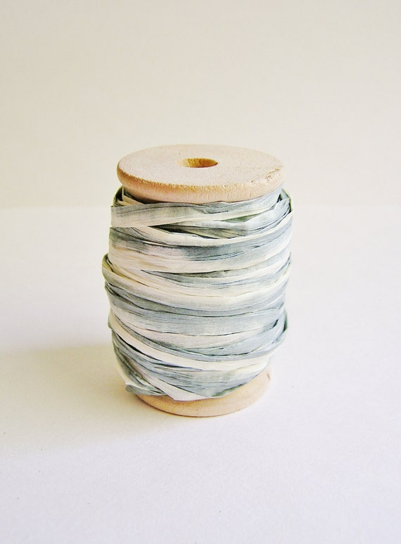 Sand and Stone Ombre Paper ribbon on a wood Spool