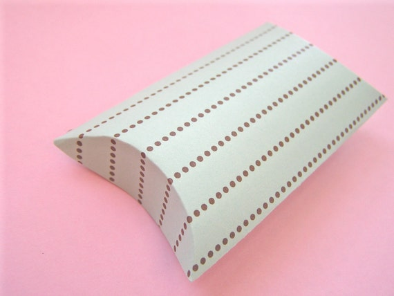 Mint\/Chocolate Dot-stripe Pillowboxes