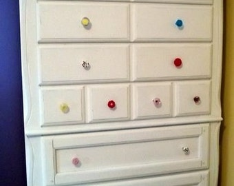 Cabinet knobs the planet glass drawer pulls with color for for Glass bureau knobs