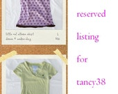Reserved listing for tancy38