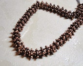 Copper spacer beads 6mm- set of 20
