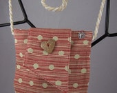 Red Striped Cotton Bag