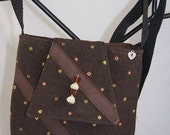 Brown Dotted Tapestry Bag (mini)