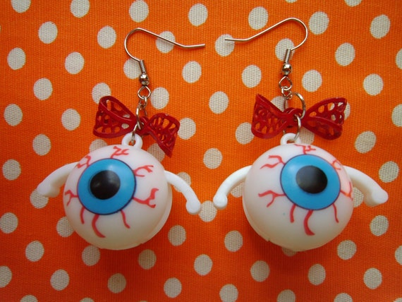 Transforming Eyeball Ghost Earrings