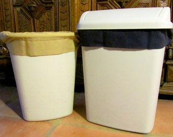 Reusable Trash Can Liners - Small - Set of 2 Khaki and Navy (Tons of Colors Available)