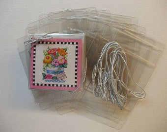 CB3  10 Clear Soft Fold Pop-Up Boxes 3 1/4 x 3 1/4 for Card and Envelope Sets