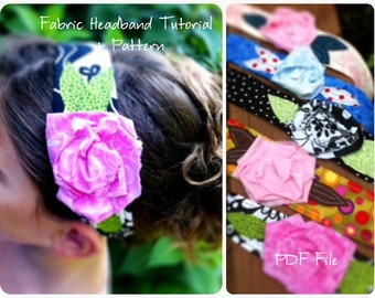 Fabric Flower Headband Tutorial- How To  INSTANT DOWNLOAD